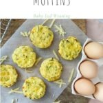 6 baby led weaning savoury muffins on board sprinkled with cheese