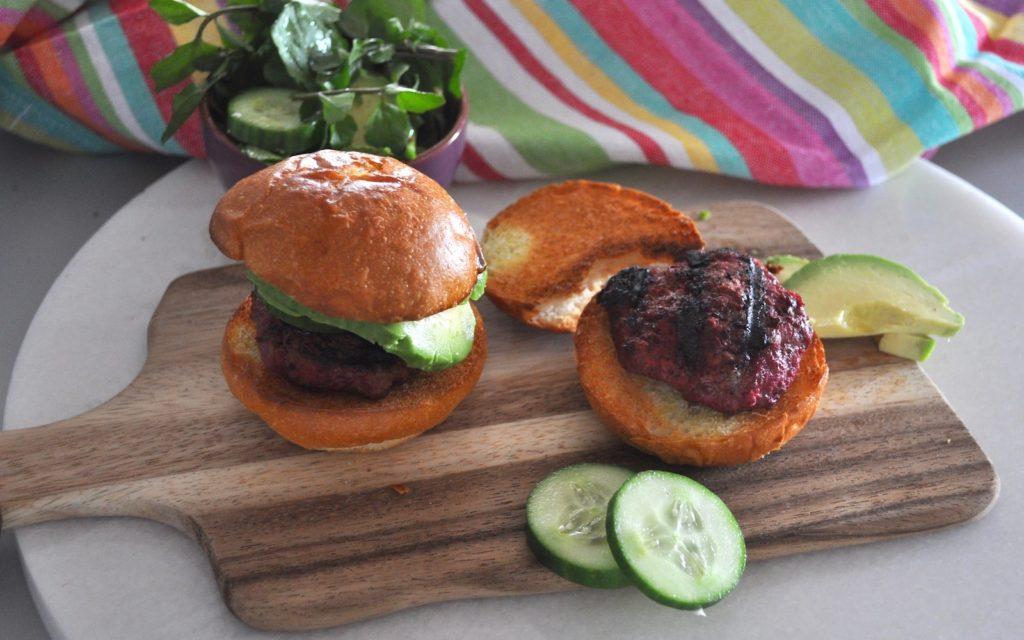 Beetroot Beef Burgers