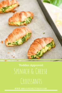 tray of spinach and cheese croissants