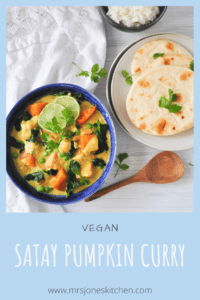 satay pumpkin curry with naan a great vegan dinner