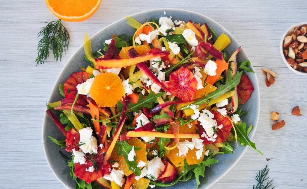 Orange & Carrot Salad with Feta