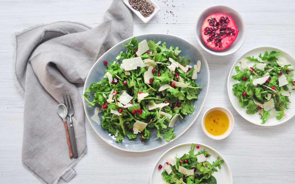 Pomegranate, Parmesan & Rocket (Arugula) Salad