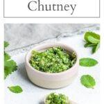 easy coriander chutney recipe pin