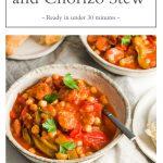 pin for Spanish chickpea and chorizo stew